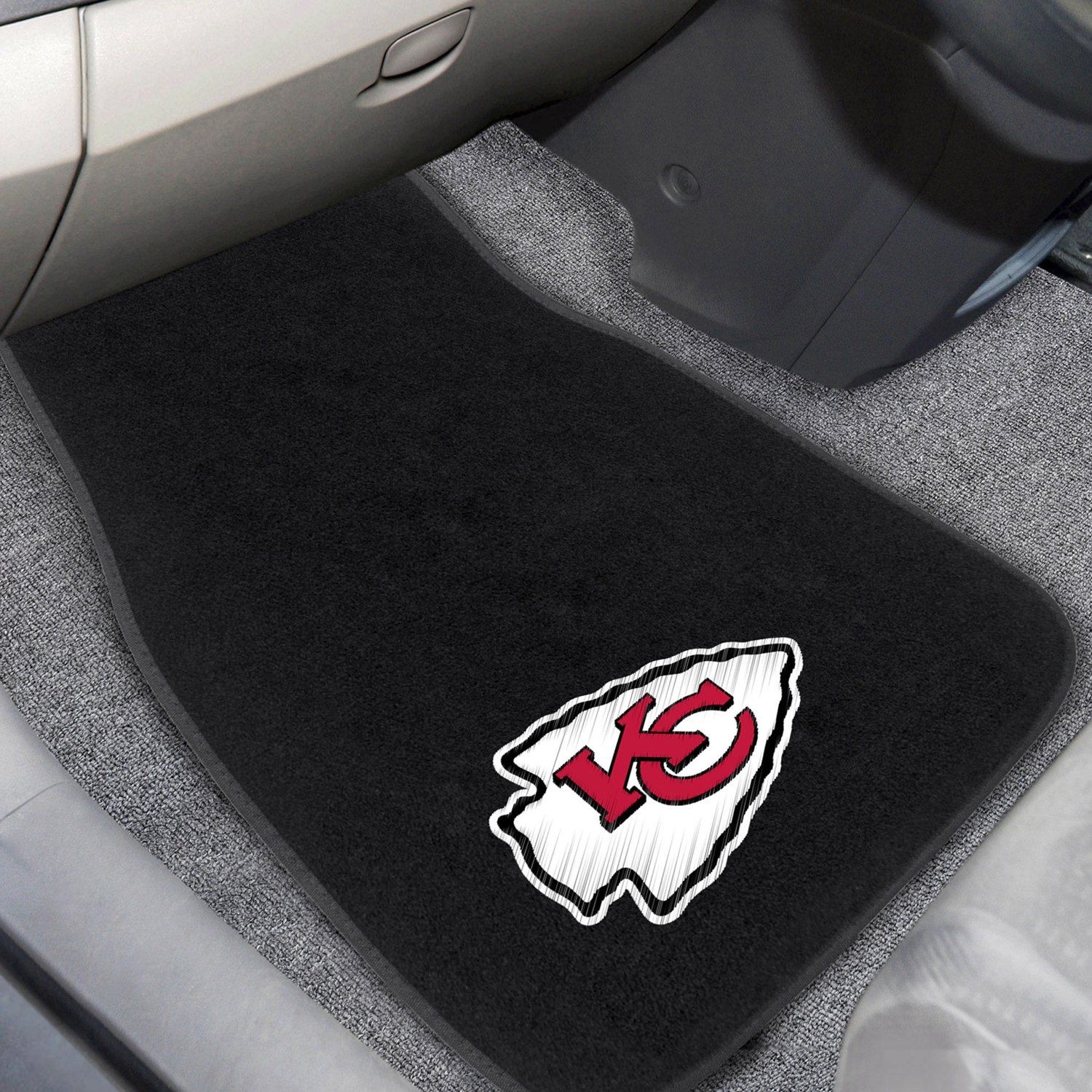 buy cheap FanMats® 20601 - Kansas City Chiefs Logo on Embroidered Floor Mats for 2015 RAM 1500 TRUCK Ebay & Amazon