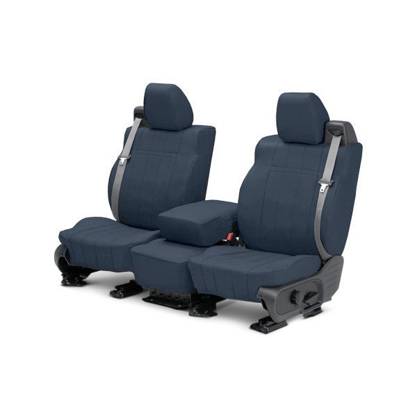 buy cheap CalTrend® DG279-04LX - I Can't Believe It's Not Leather 1st Row Blue Custom Seat Covers for 2015 RAM 1500 TRUCK Ebay & Amazon