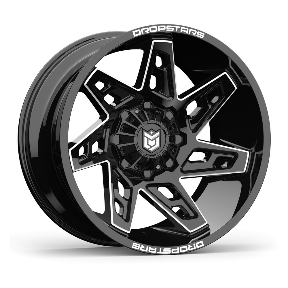 buy cheap DROPSTARS® - 653BM DEEP CONCAVE Gloss Black With Cnc Milled Accents (22