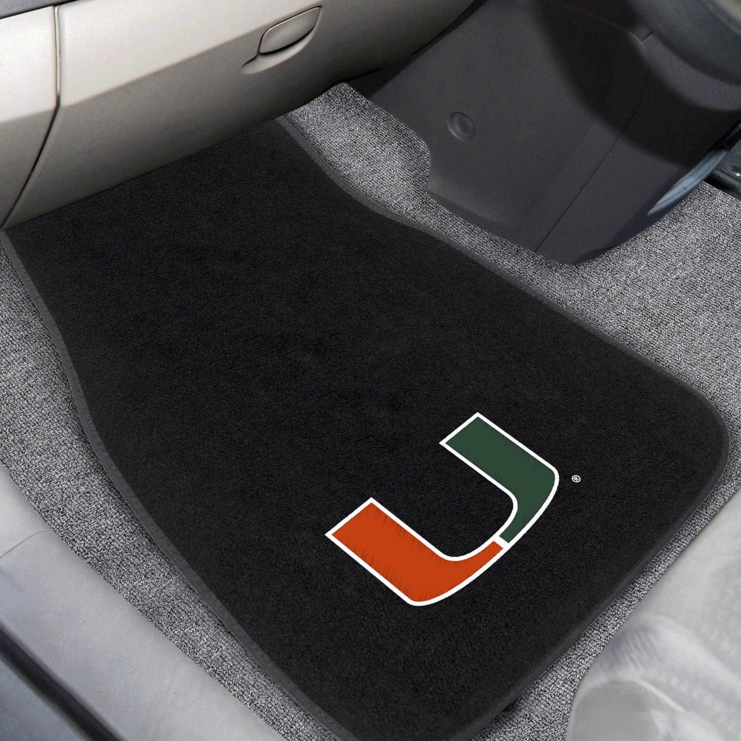buy cheap FanMats® 20609 - University of Miami Logo on Embroidered Floor Mats for 2015 RAM 1500 TRUCK Ebay & Amazon