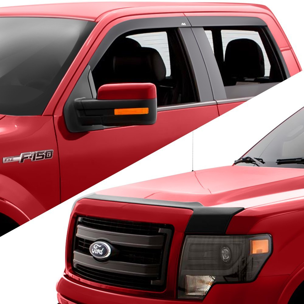 buy cheap AVS® 56003004 - Tape-On Matte Black Low Profile Ventvisor and Aeroskin Hood Shield Combo Kit for 2015 RAM 1500 TRUCK Ebay & Amazon