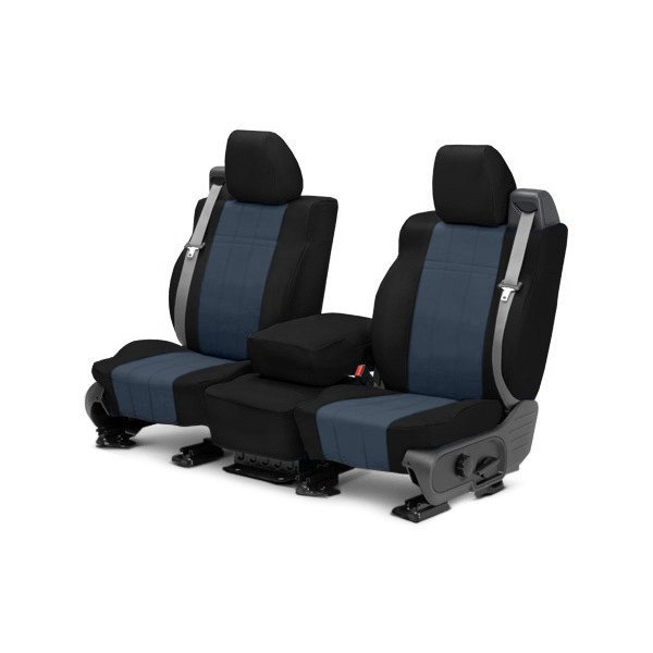 buy cheap CalTrend® DG279-04LB - I Can't Believe It's Not Leather 1st Row Black & Blue Custom Seat Covers for 2015 RAM 1500 TRUCK Ebay & Amazon