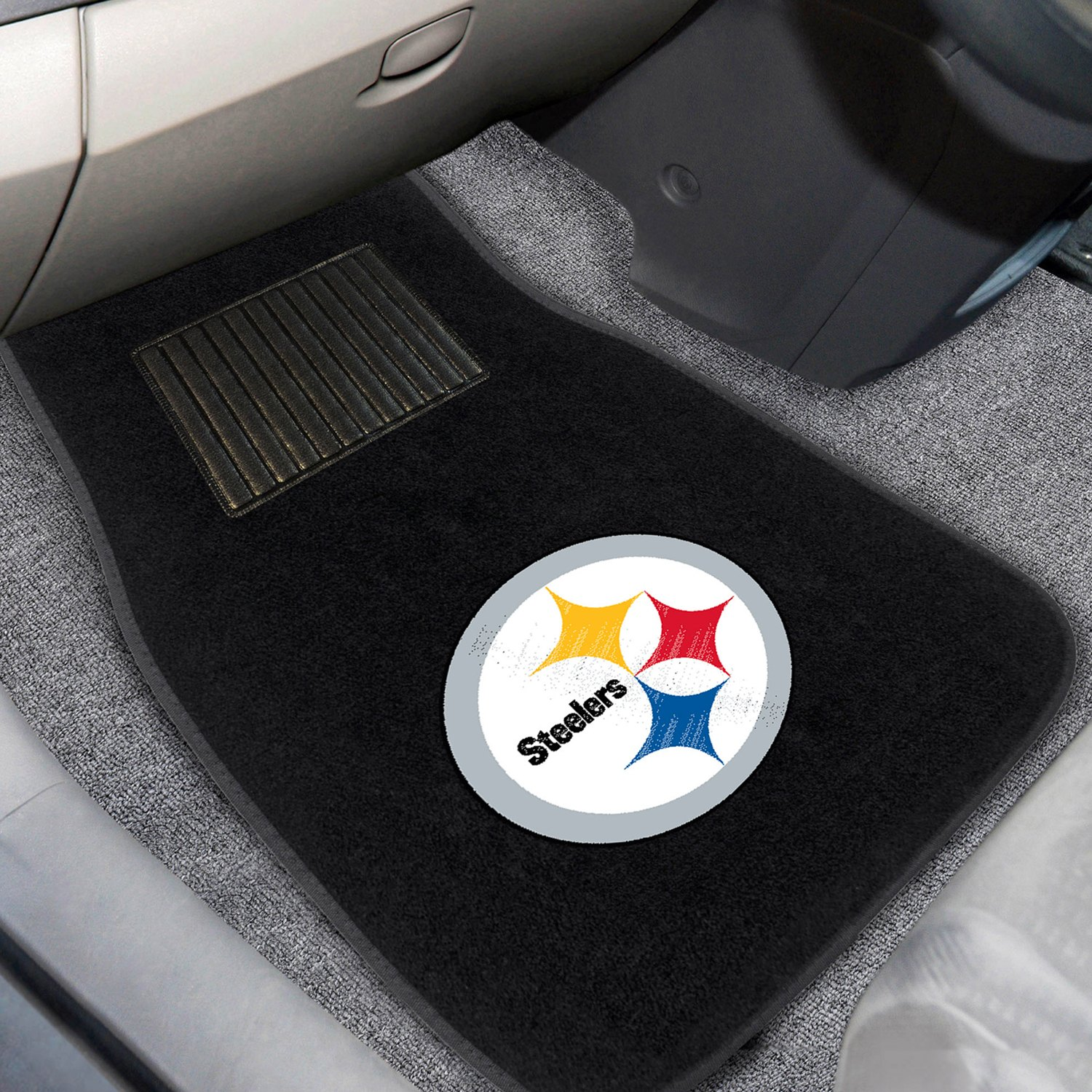 buy cheap FanMats® 10302 - Pittsburgh Steelers Logo on Embroidered Floor Mats for 2015 RAM 1500 TRUCK Ebay & Amazon