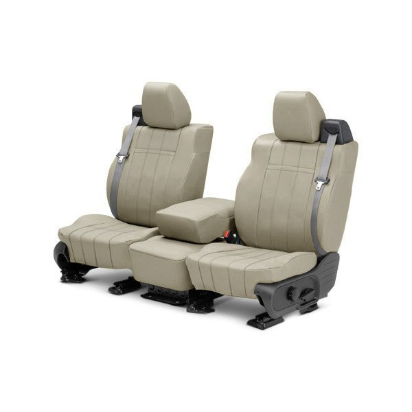 buy cheap CalTrend® DG279-05LX - I Can't Believe It's Not Leather 1st Row Sandstone Custom Seat Covers for 2015 RAM 1500 TRUCK Ebay & Amazon