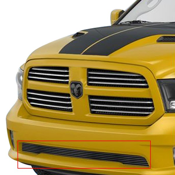 buy cheap APG® GR04FEI20C - 1-Pc Hairline Horizontal Billet Bumper Grille for 2015 RAM 1500 TRUCK Ebay & Amazon
