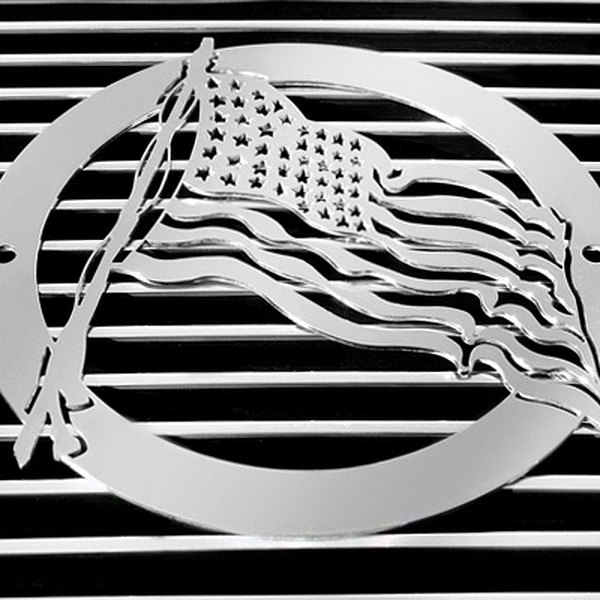 buy cheap T-Rex® L1001 - US Flag Polished Grille Badge for 2015 RAM 1500 TRUCK Ebay & Amazon