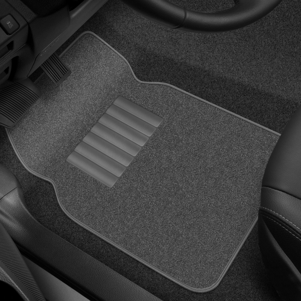 buy cheap Rubber Queen® 70724 - 1st & 2nd Row Gray Carpeted Floor Mats Set with Heel Pad for 2015 RAM 1500 TRUCK Ebay & Amazon