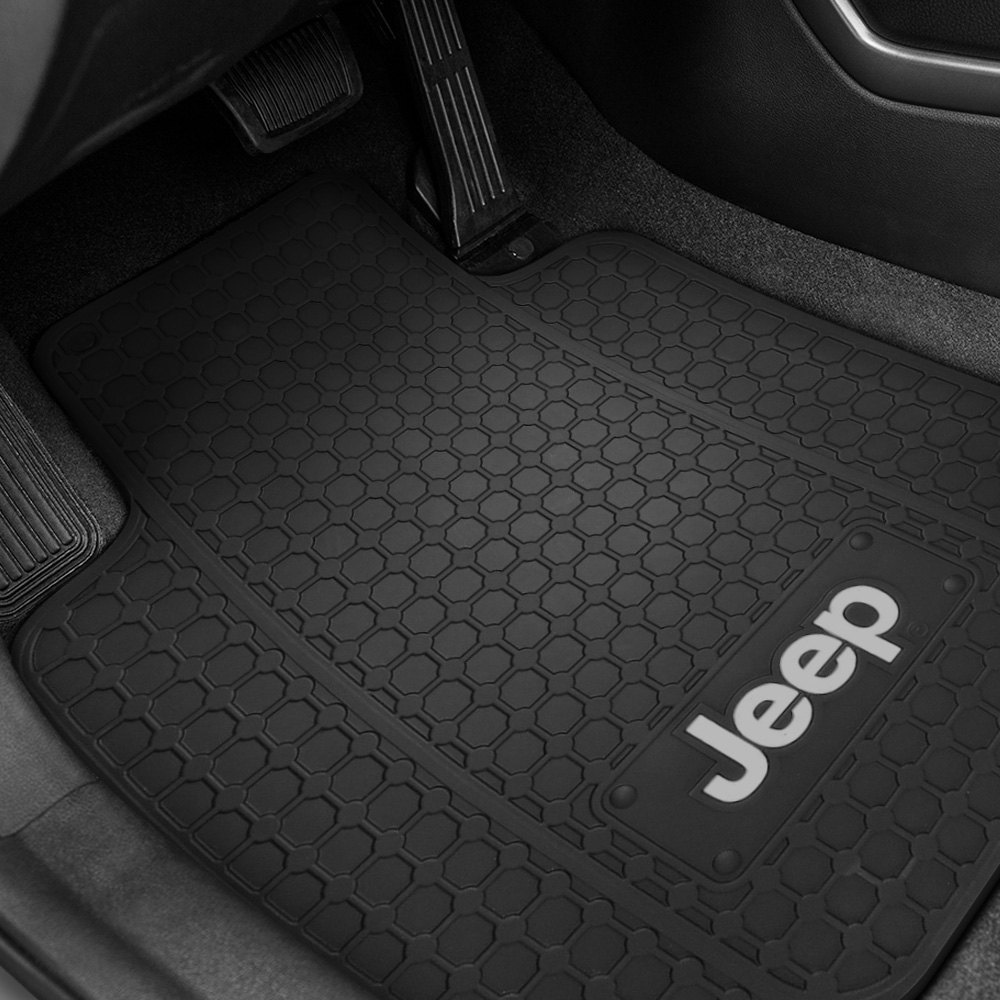 buy cheap Plasticolor® 001645R01 - 1st Row Black Rubber Floor Mats with White Jeep Logo for 2015 RAM 1500 TRUCK Ebay & Amazon