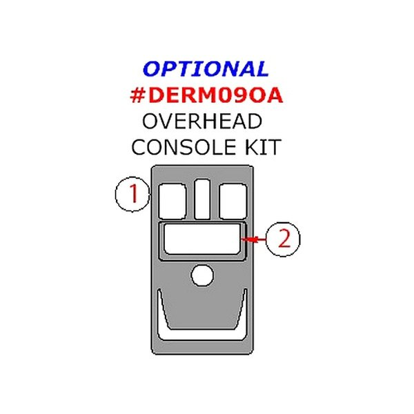 buy cheap Remin® DERM09OA-RBA - Real Brushed Aluminum Overhead Console Upgrade Kit (2 Pcs) for 2015 RAM 1500 TRUCK Ebay & Amazon
