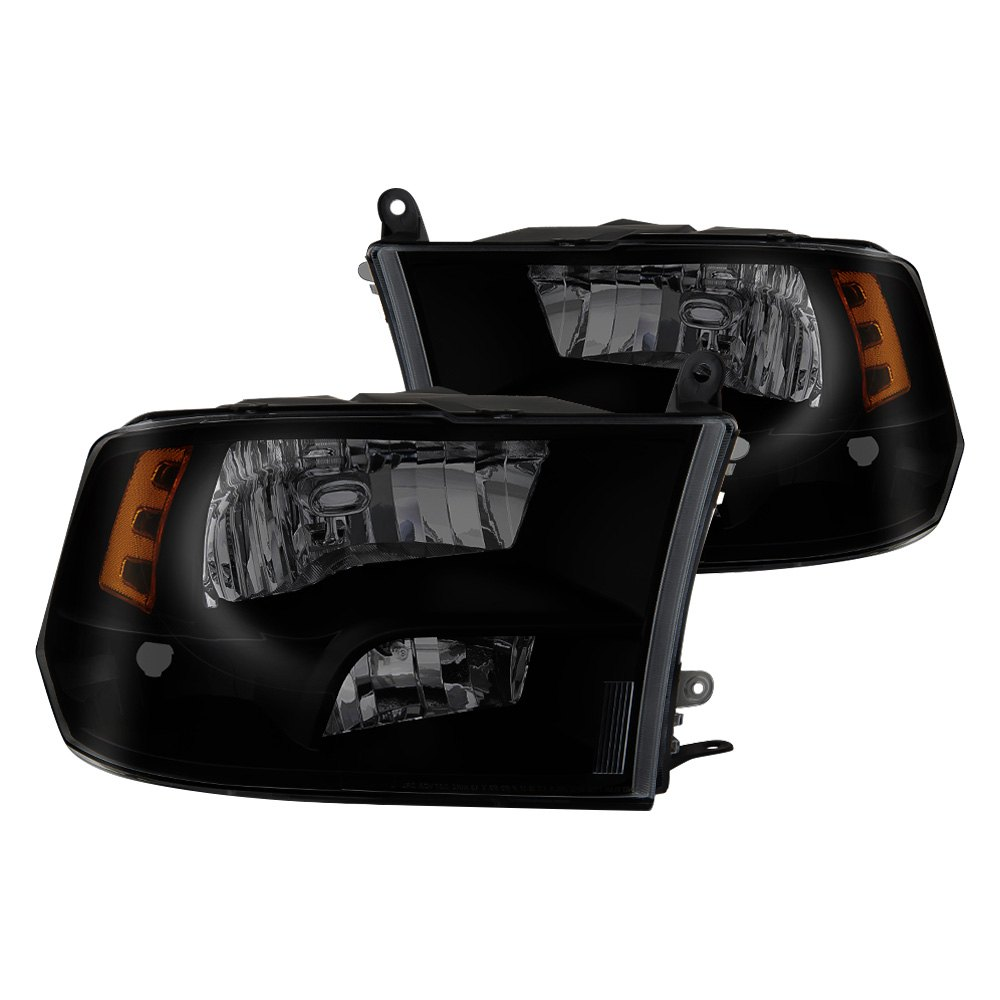 buy cheap Spyder® HD-JH-DR09-QU-BSM - Black/Smoke Factory Style Headlights for 2015 RAM 1500 TRUCK Ebay & Amazon