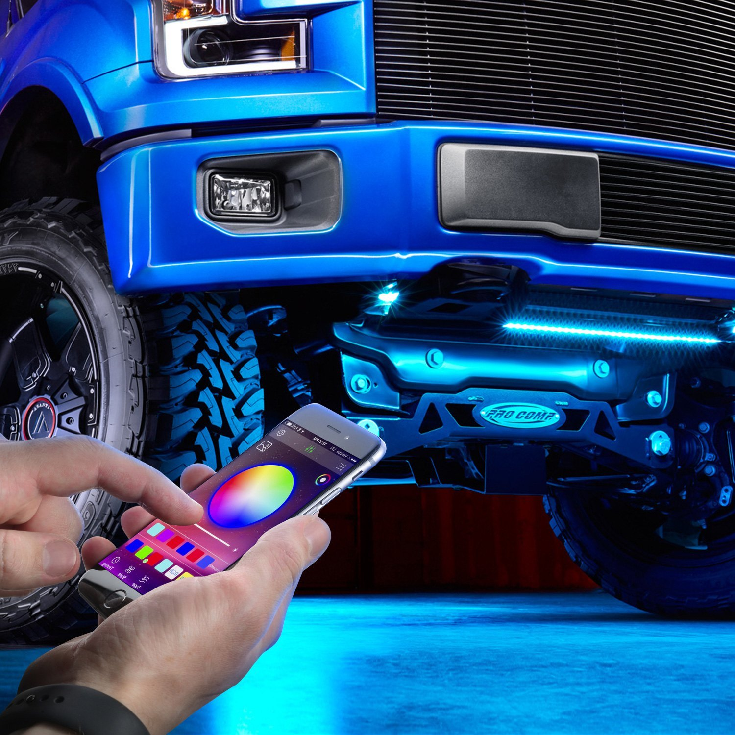 buy cheap Lumen® UBLONG-KIT - App Control RGB LED Underbody Kit for 2015 RAM 1500 TRUCK Ebay & Amazon
