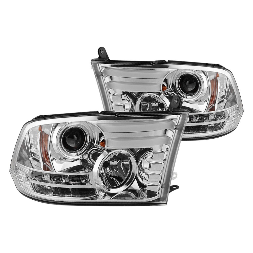 buy cheap Spyder® PRO-YD-DR13-LBDRL-C - Chrome DRL Bar Projector Headlights with LED Turn Signal for 2015 RAM 1500 TRUCK Ebay & Amazon