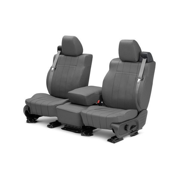 buy cheap CalTrend® DG279-03LX - I Can't Believe It's Not Leather 1st Row Charcoal Custom Seat Covers for 2015 RAM 1500 TRUCK Ebay & Amazon